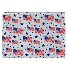 Flag Of The Usa Pattern Cosmetic Bag (xxl)  by EDDArt