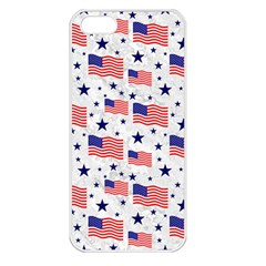Flag Of The Usa Pattern Apple Iphone 5 Seamless Case (white) by EDDArt