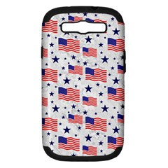 Flag Of The Usa Pattern Samsung Galaxy S Iii Hardshell Case (pc+silicone) by EDDArt