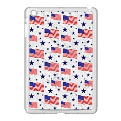 Flag Of The Usa Pattern Apple Ipad Mini Case (white) by EDDArt
