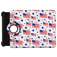 Flag Of The Usa Pattern Kindle Fire Hd 7  by EDDArt