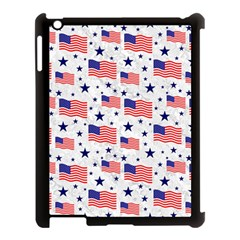 Flag Of The Usa Pattern Apple Ipad 3/4 Case (black) by EDDArt
