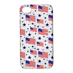 Flag Of The Usa Pattern Apple Iphone 4/4s Hardshell Case With Stand by EDDArt