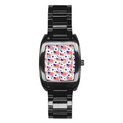 Flag Of The Usa Pattern Stainless Steel Barrel Watch by EDDArt