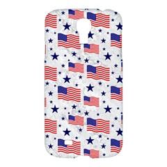 Flag Of The Usa Pattern Samsung Galaxy S4 I9500/i9505 Hardshell Case by EDDArt
