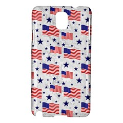 Flag Of The Usa Pattern Samsung Galaxy Note 3 N9005 Hardshell Case by EDDArt