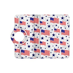 Flag Of The Usa Pattern Kindle Fire Hd (2013) Flip 360 Case by EDDArt