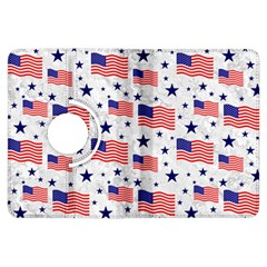 Flag Of The Usa Pattern Kindle Fire Hdx Flip 360 Case by EDDArt
