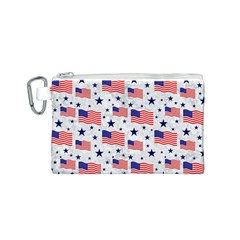 Flag Of The Usa Pattern Canvas Cosmetic Bag (s) by EDDArt