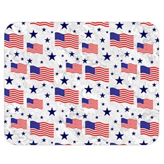 Flag Of The Usa Pattern Double Sided Flano Blanket (medium)  by EDDArt