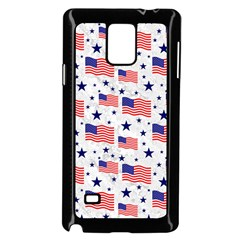 Flag Of The Usa Pattern Samsung Galaxy Note 4 Case (black) by EDDArt