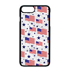 Flag Of The Usa Pattern Apple Iphone 7 Plus Seamless Case (black) by EDDArt