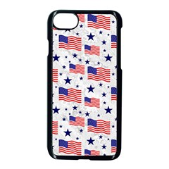 Flag Of The Usa Pattern Apple Iphone 7 Seamless Case (black) by EDDArt