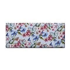 Watercolor Flowers Butterflies Pattern Blue Red Cosmetic Storage Cases by EDDArt