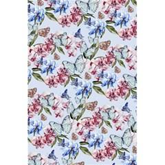 Watercolor Flowers Butterflies Pattern Blue Red 5 5  X 8 5  Notebooks by EDDArt