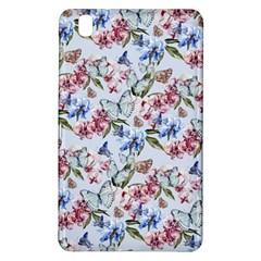 Watercolor Flowers Butterflies Pattern Blue Red Samsung Galaxy Tab Pro 8 4 Hardshell Case by EDDArt