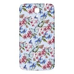 Watercolor Flowers Butterflies Pattern Blue Red Samsung Galaxy Mega I9200 Hardshell Back Case by EDDArt
