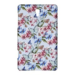 Watercolor Flowers Butterflies Pattern Blue Red Samsung Galaxy Tab S (8 4 ) Hardshell Case  by EDDArt