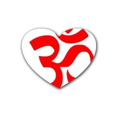 Hindu Om Symbol Heart Coaster (4 Pack)  by abbeyz71