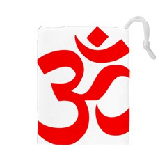 Hindu Om Symbol Drawstring Pouches (large)  by abbeyz71
