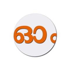 Hindu Om Symbol In Malayalam Script Rubber Round Coaster (4 Pack)  by abbeyz71