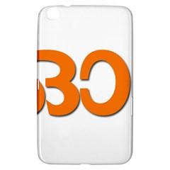 Hindu Om Symbol In Malayalam Script Samsung Galaxy Tab 3 (8 ) T3100 Hardshell Case  by abbeyz71