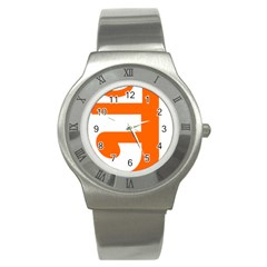 Om Symbol In Jainism  Stainless Steel Watch by abbeyz71