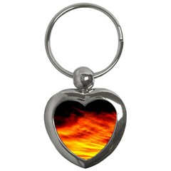 Black Yellow Red Sunset Key Chains (heart)  by Costasonlineshop