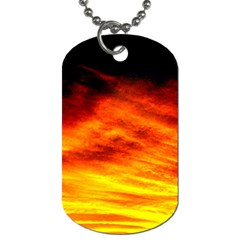 Black Yellow Red Sunset Dog Tag (two Sides) by Costasonlineshop