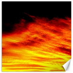 Black Yellow Red Sunset Canvas 12  X 12   by Costasonlineshop
