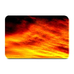 Black Yellow Red Sunset Plate Mats by Costasonlineshop