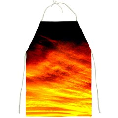 Black Yellow Red Sunset Full Print Aprons by Costasonlineshop