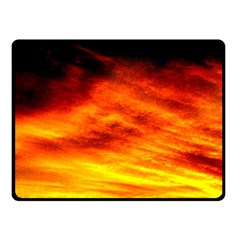 Black Yellow Red Sunset Double Sided Fleece Blanket (small)  by Costasonlineshop