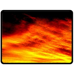 Black Yellow Red Sunset Double Sided Fleece Blanket (large)  by Costasonlineshop