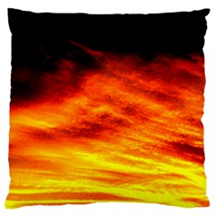 Black Yellow Red Sunset Standard Flano Cushion Case (two Sides) by Costasonlineshop