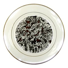 Pattern Porcelain Plates by Valentinaart