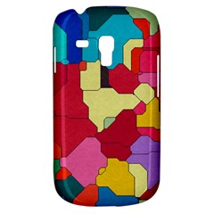 Colorful leather pieces       Samsung Galaxy Ace Plus S7500 Hardshell Case by LalyLauraFLM