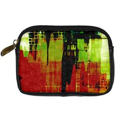Grunge Texture        Digital Camera Leather Case by LalyLauraFLM