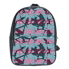 Cracked Tiles             School Bag (large) by LalyLauraFLM