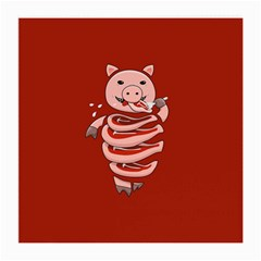 Red Stupid Self Eating Gluttonous Pig Medium Glasses Cloth by CreaturesStore