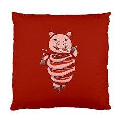 Red Stupid Self Eating Gluttonous Pig Standard Cushion Case (one Side) by CreaturesStore