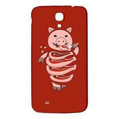 Red Stupid Self Eating Gluttonous Pig Samsung Galaxy Mega I9200 Hardshell Back Case by CreaturesStore