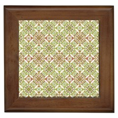 Colorful Stylized Floral Boho Framed Tiles by dflcprints