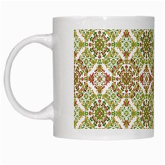 Colorful Stylized Floral Boho White Mugs by dflcprints