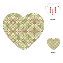 Colorful Stylized Floral Boho Playing Cards (heart)  by dflcprints