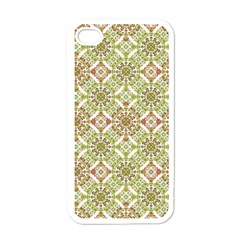 Colorful Stylized Floral Boho Apple Iphone 4 Case (white) by dflcprints