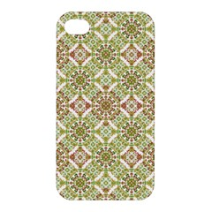 Colorful Stylized Floral Boho Apple Iphone 4/4s Hardshell Case by dflcprints