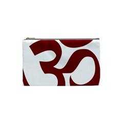Hindu Om Symbol (dark Red) Cosmetic Bag (small)  by abbeyz71