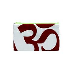 Hindu Om Symbol (dark Red) Cosmetic Bag (xs) by abbeyz71