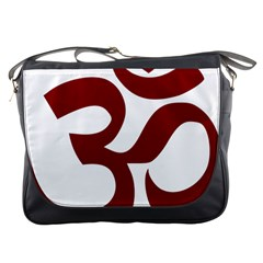 Hindu Om Symbol (dark Red) Messenger Bags by abbeyz71